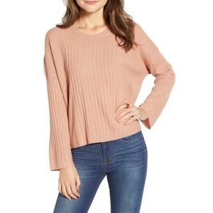 NWT Madewell Ribbed Dusty Rose Sweater